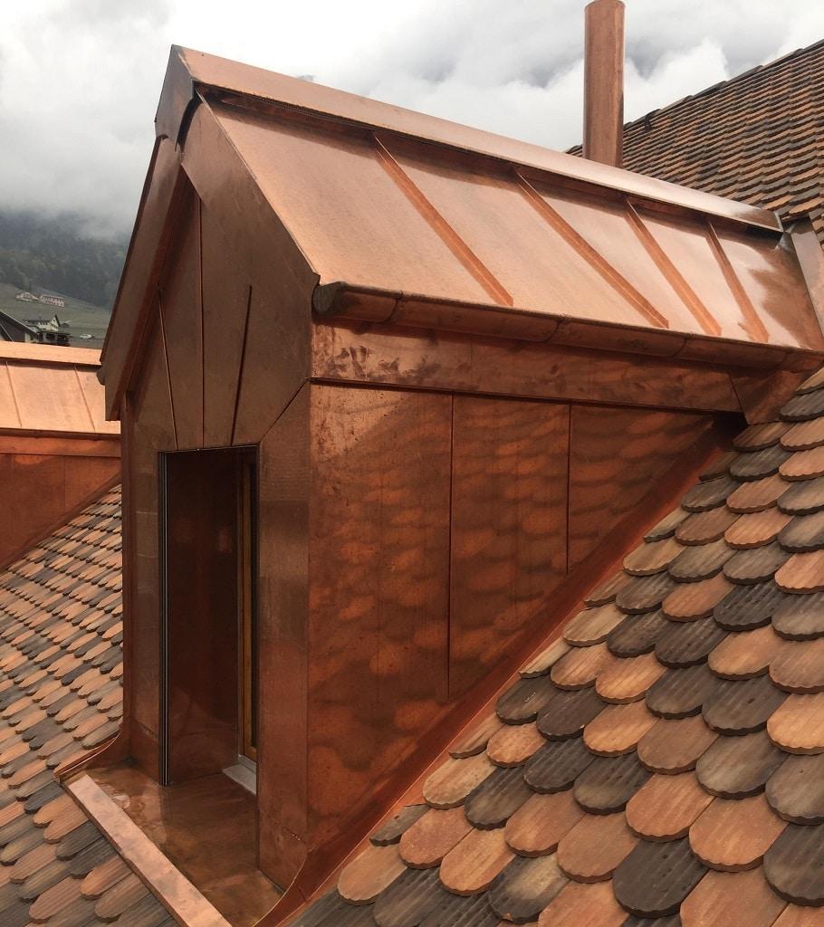 Les r alisations muller toitures for Feuille de cuivre toiture